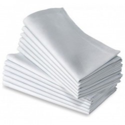 Serviette coton blanche 50x50