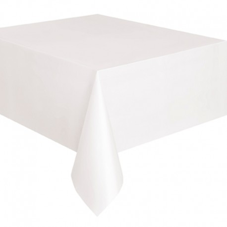 Nappe blanche 230x230 pour table ronde