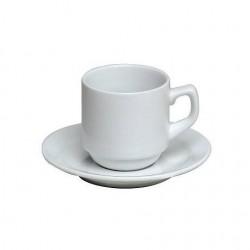 Tasse et sous tasse bistro + moka