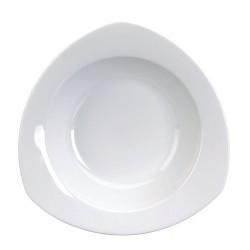 Assiette gala creuse triangulaires 22,5 blanc