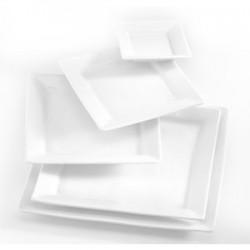 Mini assiettes blanches 12x12
