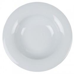 Assiette prestige creuse 22,5 cm blanc porcelaine