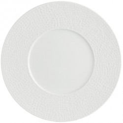Assiette prestige creuse 31 cm blanc porcelaine