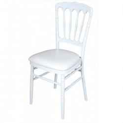 Chaise Napoléon empilable blanche pliante