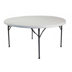 Table ronde polyéthylène diamètre 152cm (8-9pers)