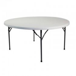 Table ronde polyéthylène 180 cm (10/12pers.)