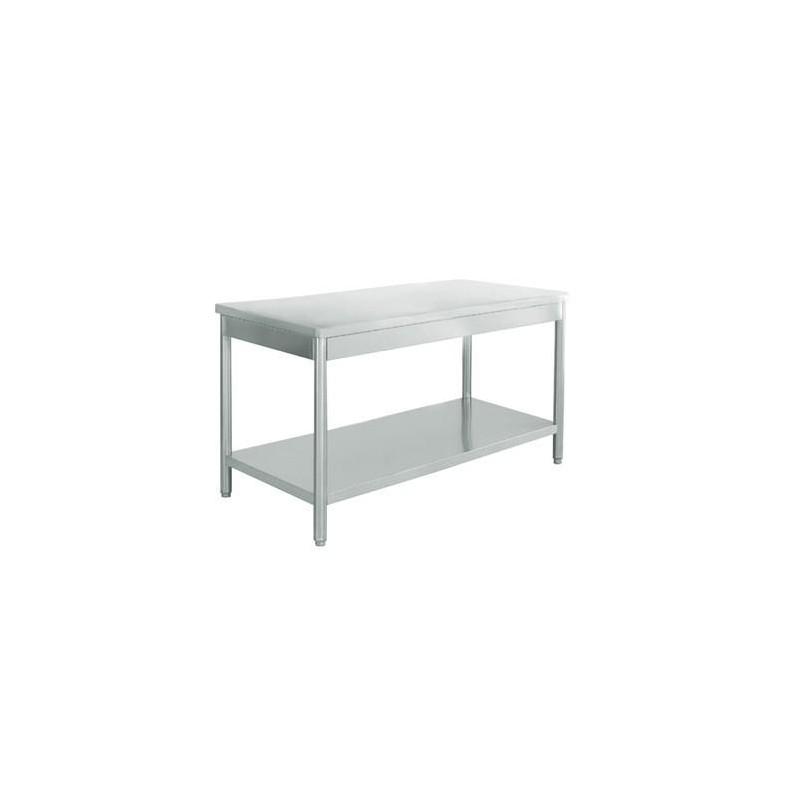 table de cuisine en inox 1700x700 vaisselleenfete. Black Bedroom Furniture Sets. Home Design Ideas